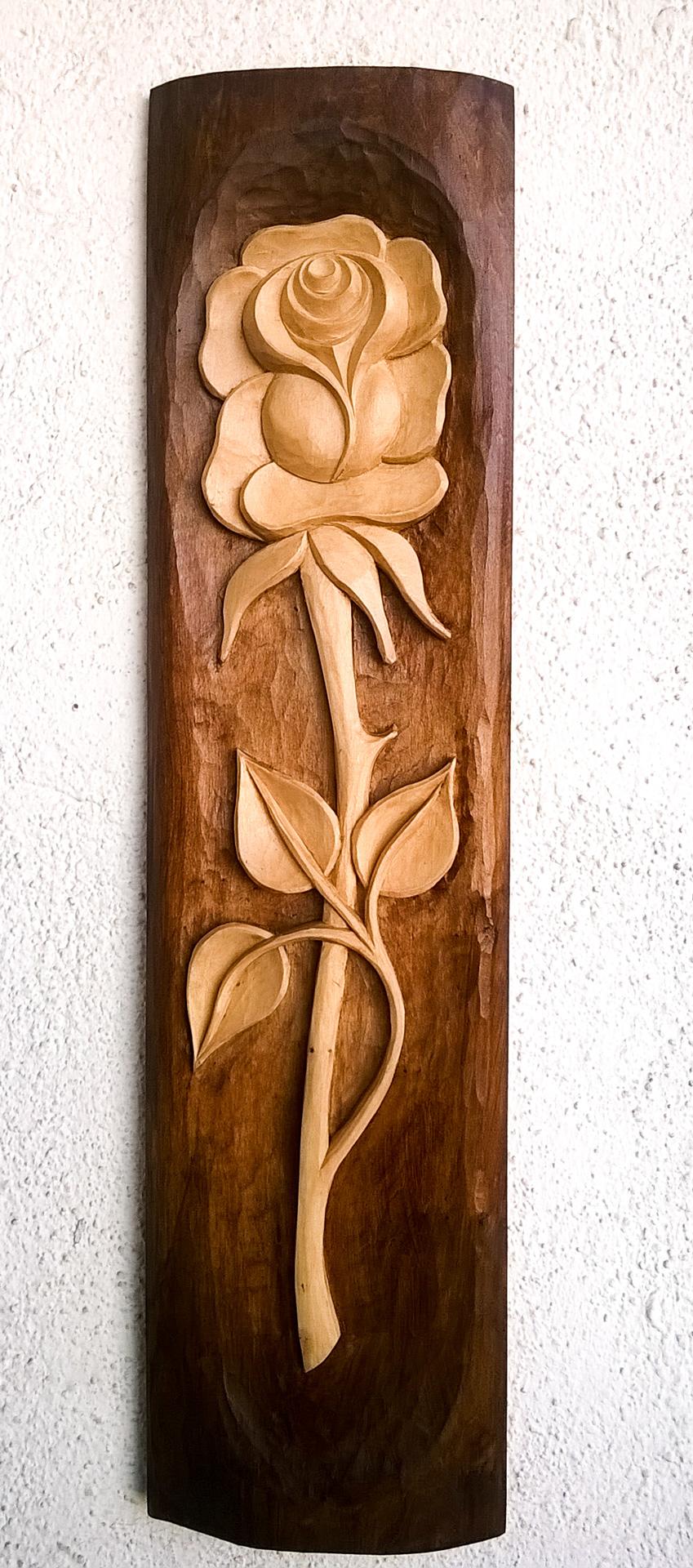 пано дърворезба Роза