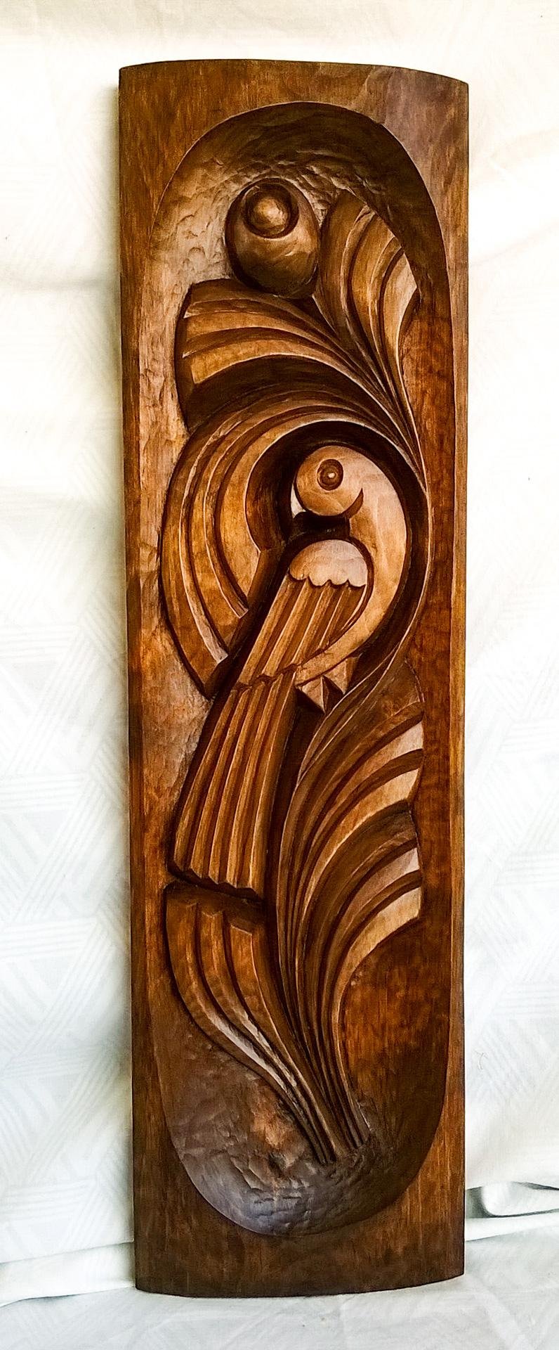 пано дърворезба Птица 2