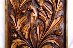 пано дърворезба Птици