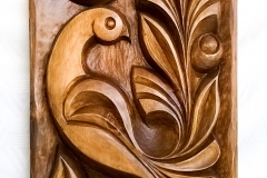 пано дърворезба Жар птица