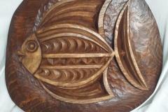 пано дърворезба Риба